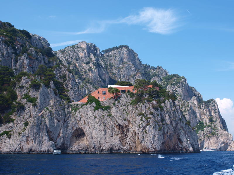 Villa Malaparte, Eiland van Capri, Italië royalty-vrije stock foto's