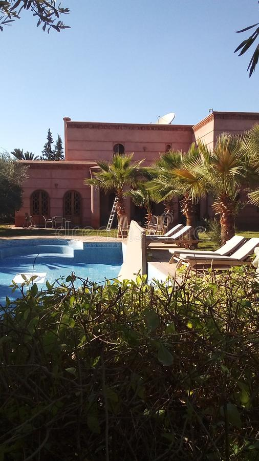 Villa marrakech royaltyfria foton