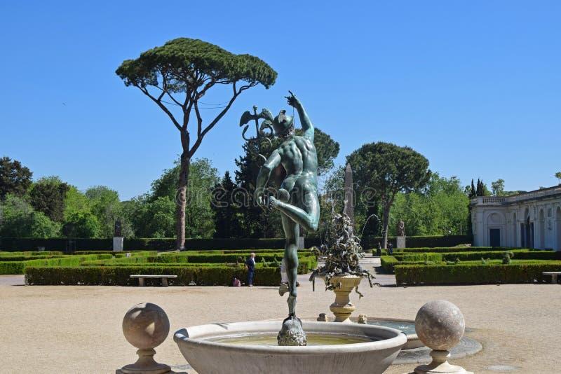 Villa Medici i Rome fotografering för bildbyråer