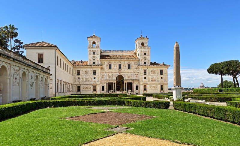 Villa Medici, Rome stock foto's