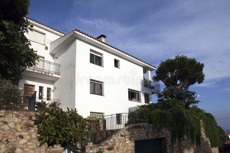 Villa On The Mediterranean Sea Royalty Free Stock Photography