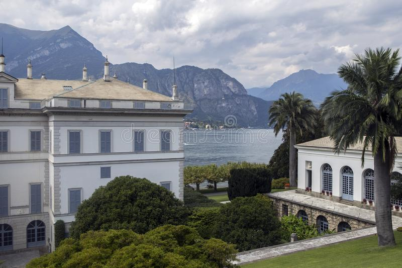 Villa Melzi and its gardens near Bellagio at the famous Italian stock photos