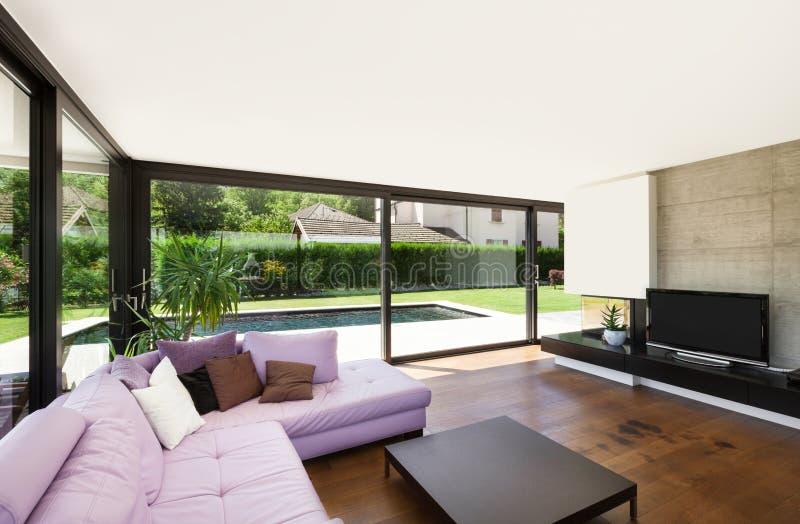 Villa moderna fotografia stock