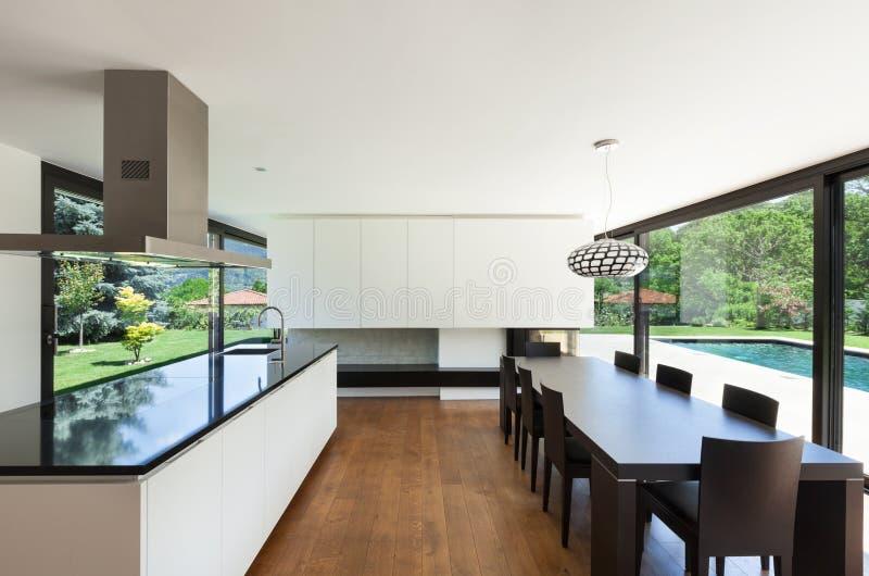 Villa moderna, interna fotografie stock libere da diritti