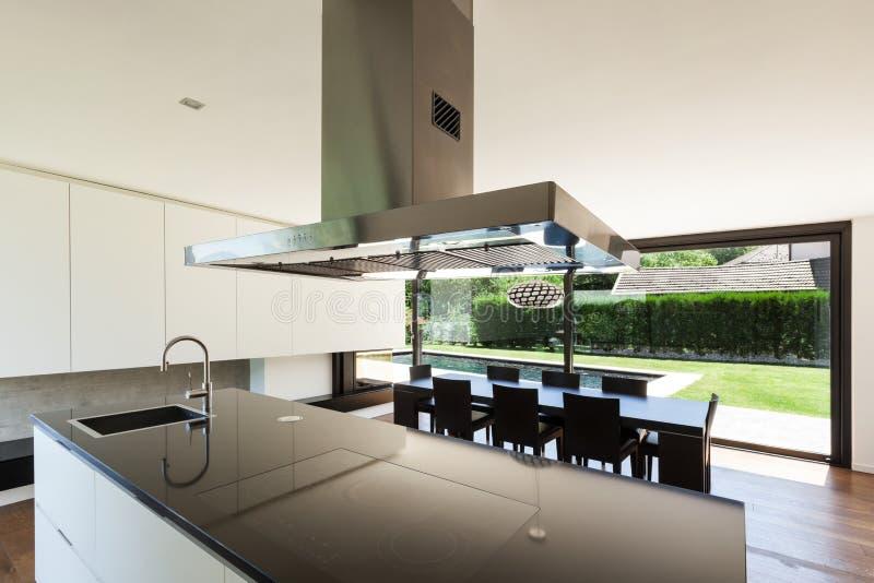 Villa moderna, interna fotografia stock