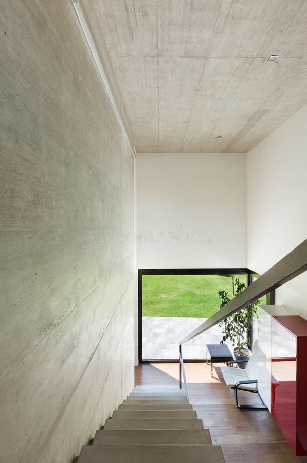 Villa Moderne, Intérieur, Escaliers Photo stock - Image du parquet ...