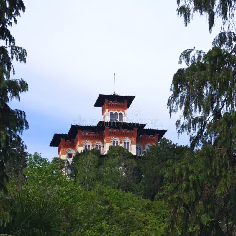Villa Moretti (maison de style de liberté) dans Tarcento, photos libres de droits