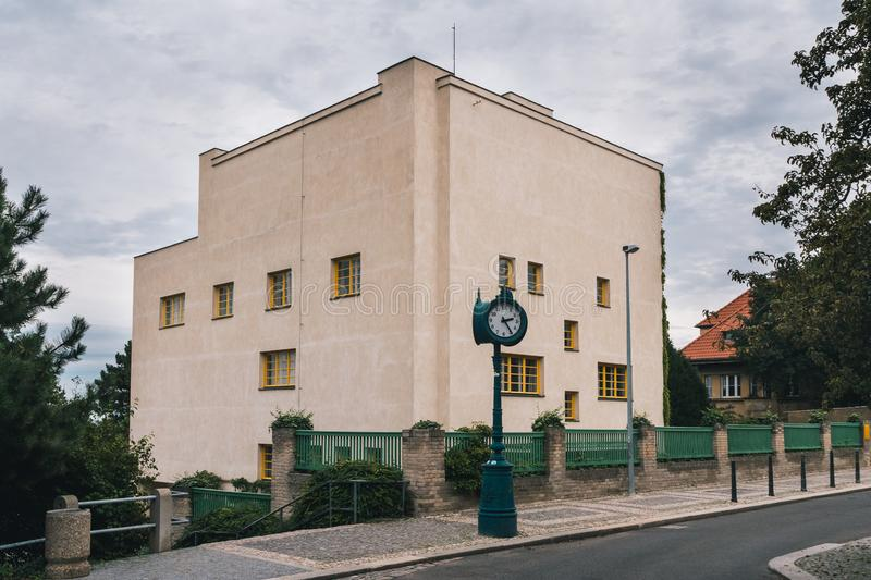 Villa Mueller House Exterior, Prague, by Adolf Loos royalty free stock photo