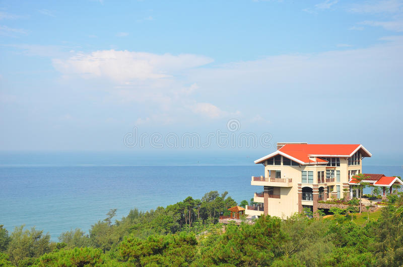 Download Villa near the ocean stock image. Image of family, colourful - 21691919