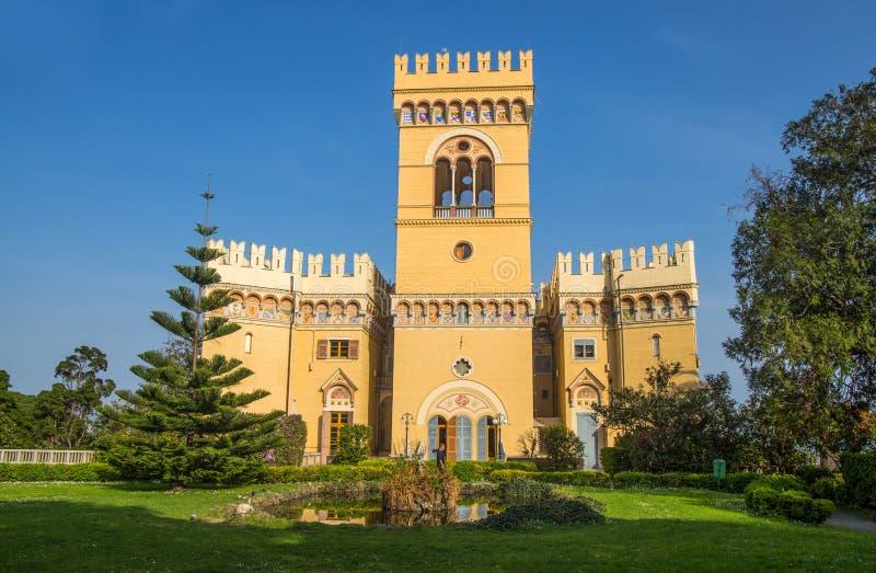 Villa Negrotto Cambiaso, Arenzano, Genova, Italia del castello fotografie stock