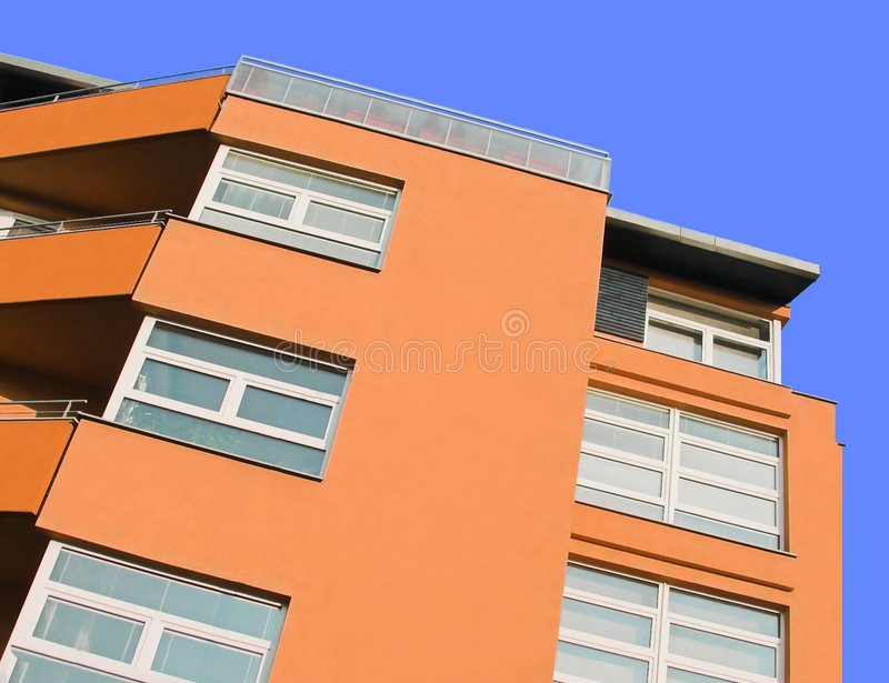 villa orange, fond photographie stock