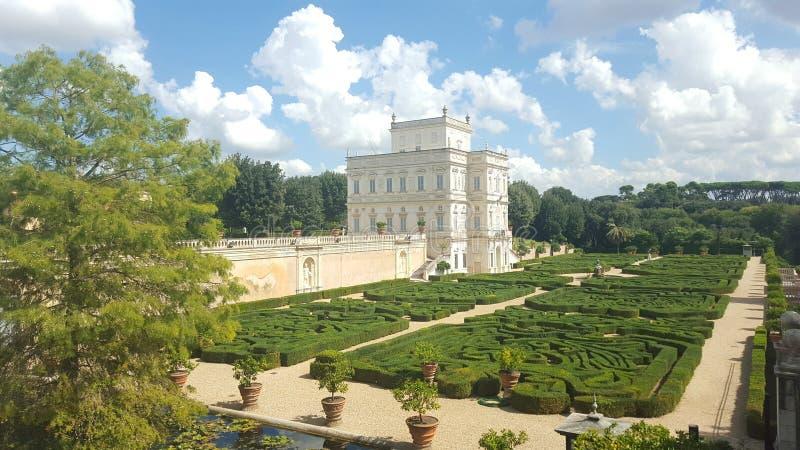 Villa Pamphili met tuinen in Rome, Italië stock foto