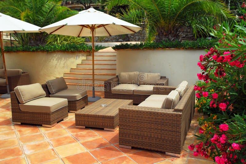 villa patio fotografia royalty free
