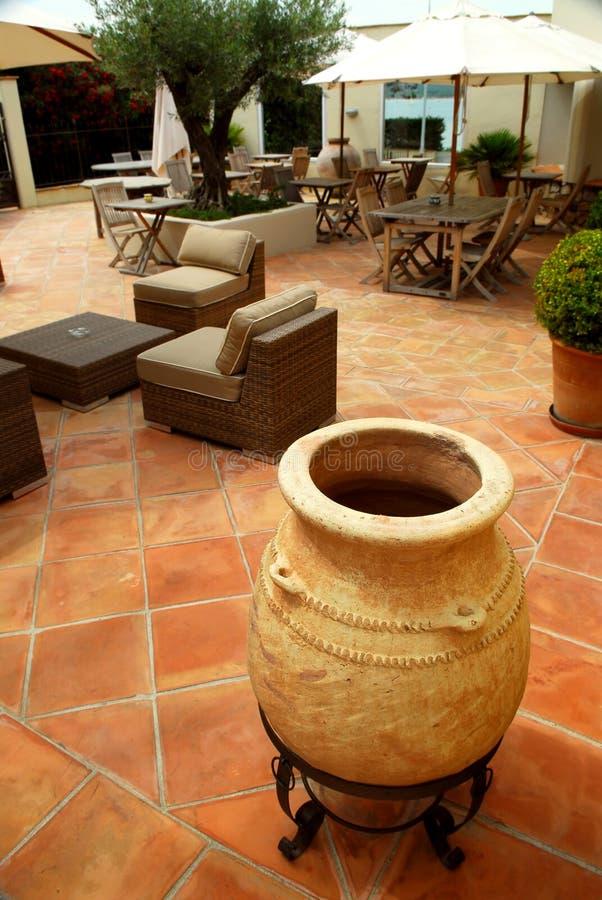 villa patio zdjęcia royalty free