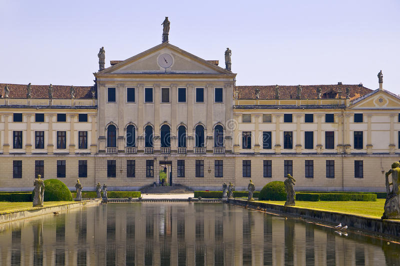Villa Pisani reflections stock photos