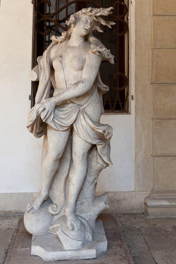 Villa Pisani, Stra, Veneto, Italien för Medusa för marmorstaty arkivbilder
