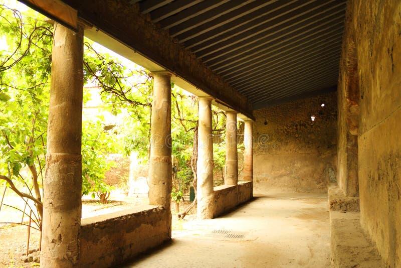 Villa in Pompeii stock photos