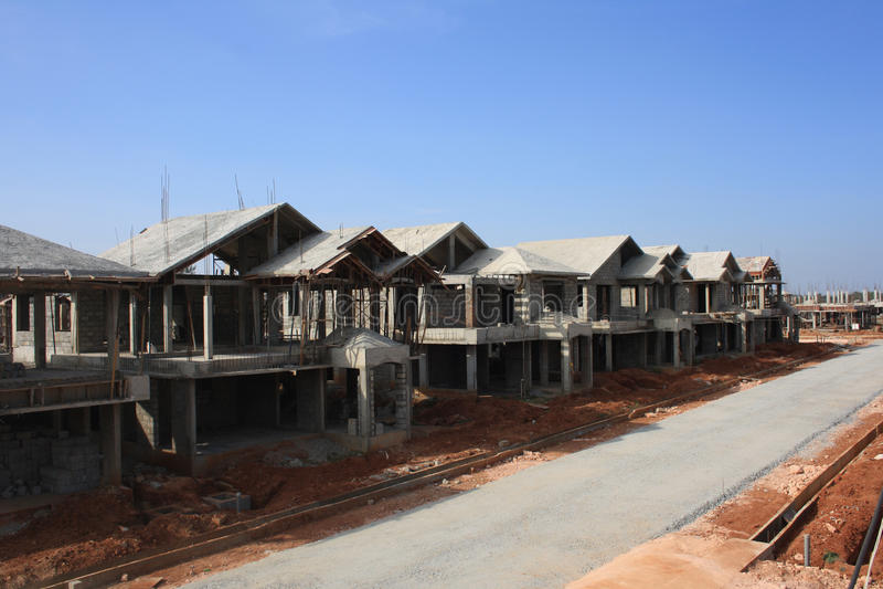 Villa premio in costruzione fotografie stock libere da diritti