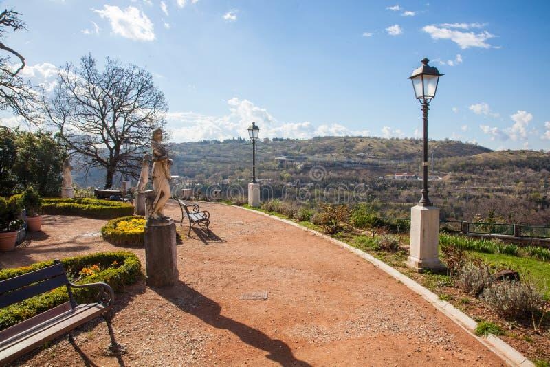 Villa Revoltella a Trieste fotografie stock