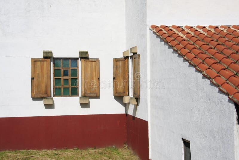 Villa romana Windows fotografia stock libera da diritti