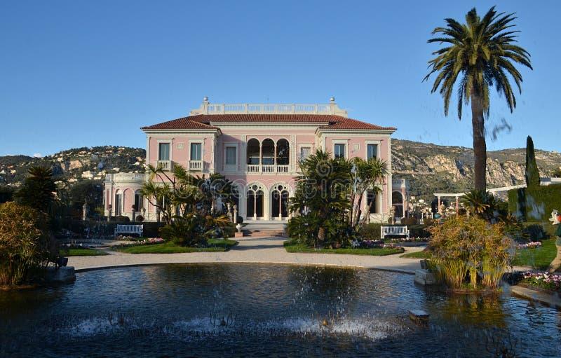 Villa Rothschild, Cap Ferrat, franska Riviera, Frankrike royaltyfri bild