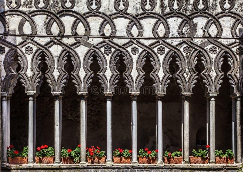 Villa Rufolo, Ravello, Amalfi kust, Italien arkivfoto