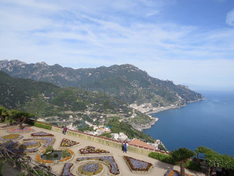 Villa Rufolo in Ravello, costa di Amalfi, Italia fotografia stock