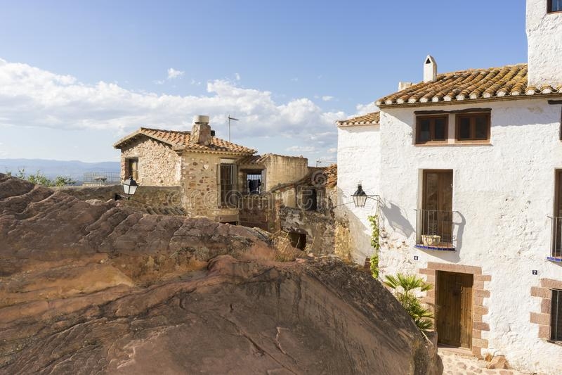 Villa rurale de Villafamés dans Castellon, région de Valence en Espagne image libre de droits