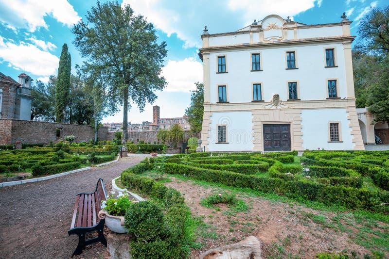 Villa Savorelli, early eighteenth century. Sutri, Italy. royalty free stock photography