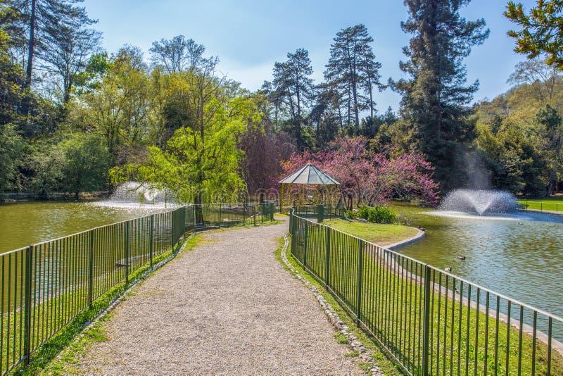 Villa Serra di Comago公园,热那亚赫诺瓦,意大利 库存照片