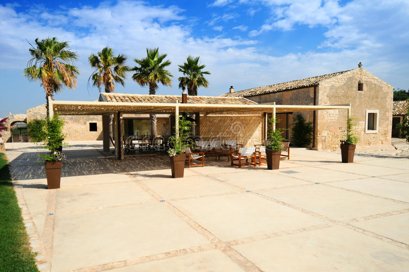 Villa in Sicily royalty free stock photography