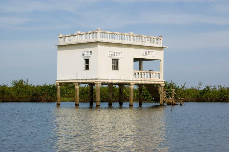 Villa On Stilts, Tonle Sap Lake, Cambodia Royalty Free Stock Photos