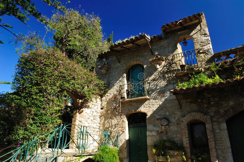 Villa of Taormina royalty free stock photos