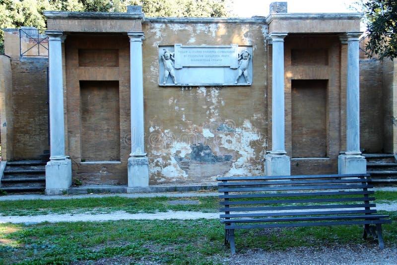 Villa Torlonia in Rome royalty-vrije stock afbeelding