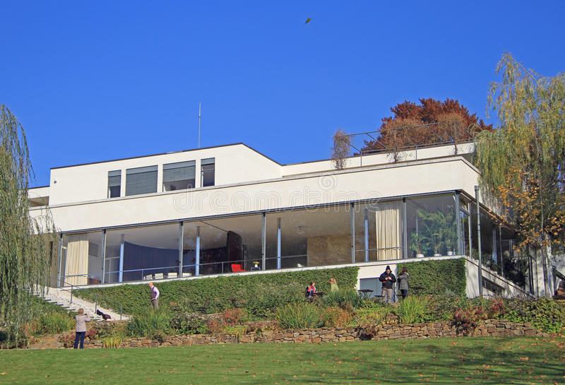 Villa Tugendhat villa tugendhat the historical building in brno editorial image