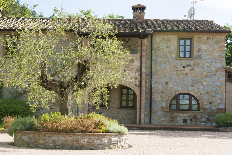 Villa in Tuscan style. House in typical Tuscan style royalty free stock photos