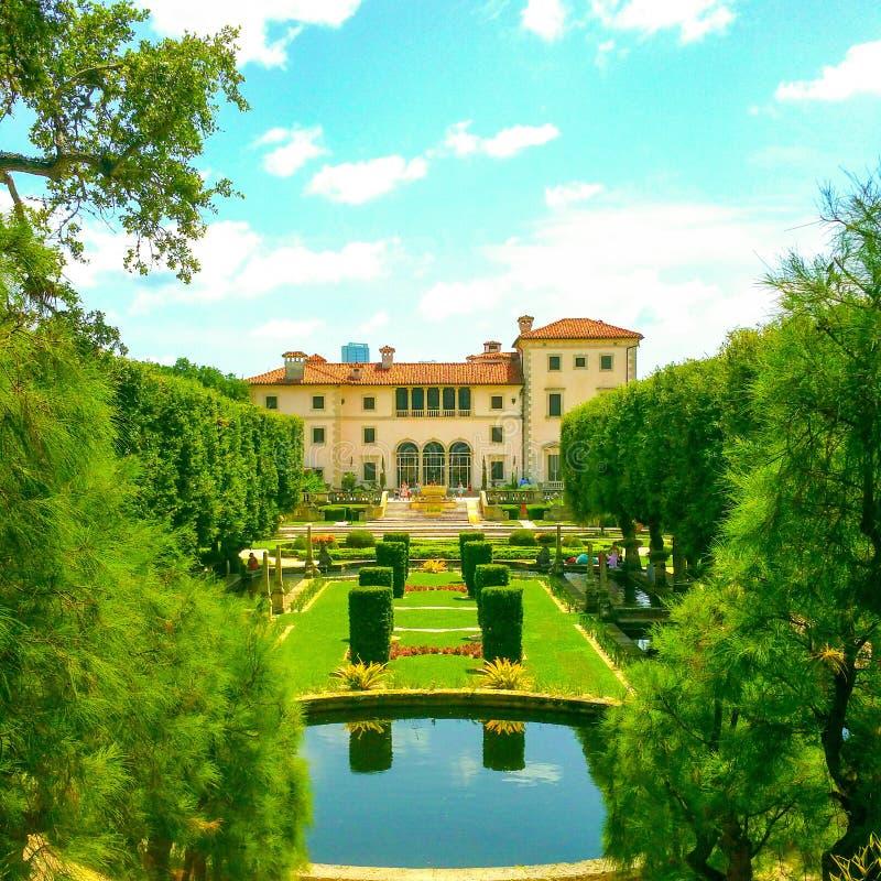 Villa Vizcaya royalty free stock photography