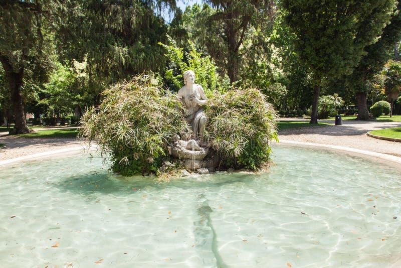 VillaBorghese trädgårdar royaltyfria bilder