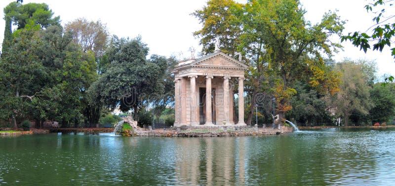 VillaBorghese trädgårdar, Rome Italien arkivfoto