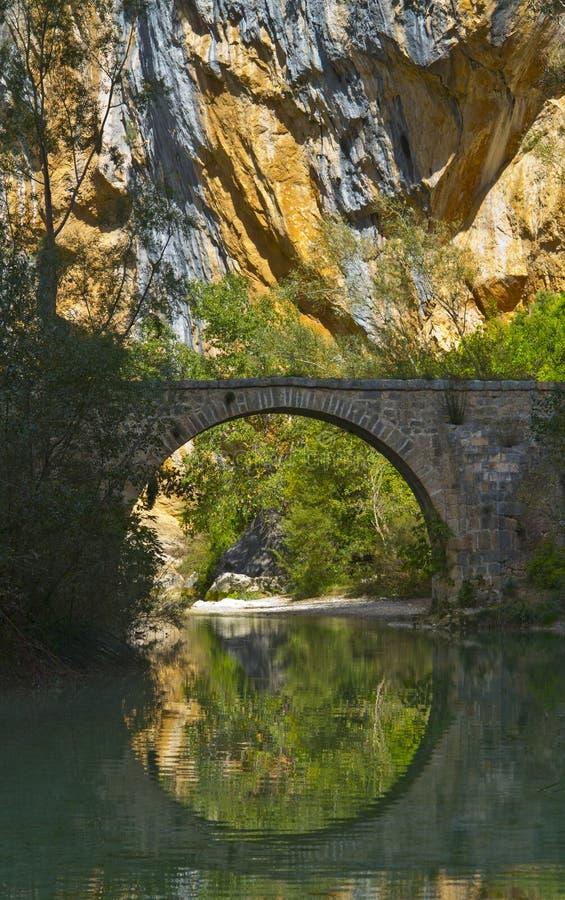 Villacantalbrug, Vero River royalty-vrije stock afbeelding