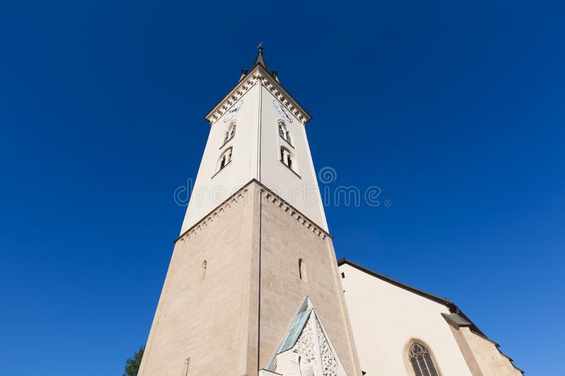 Villach, Austria - St- Jacob`s Church stock images