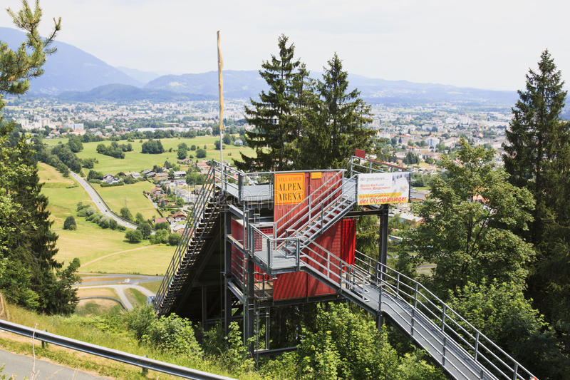 Villacher Alpenarena σε Carinthia, Αυστρία στοκ φωτογραφία με δικαίωμα ελεύθερης χρήσης