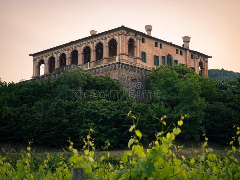 Villadeien Vescovi är en Venetian Renässans-stil villa aktuellt fotografering för bildbyråer