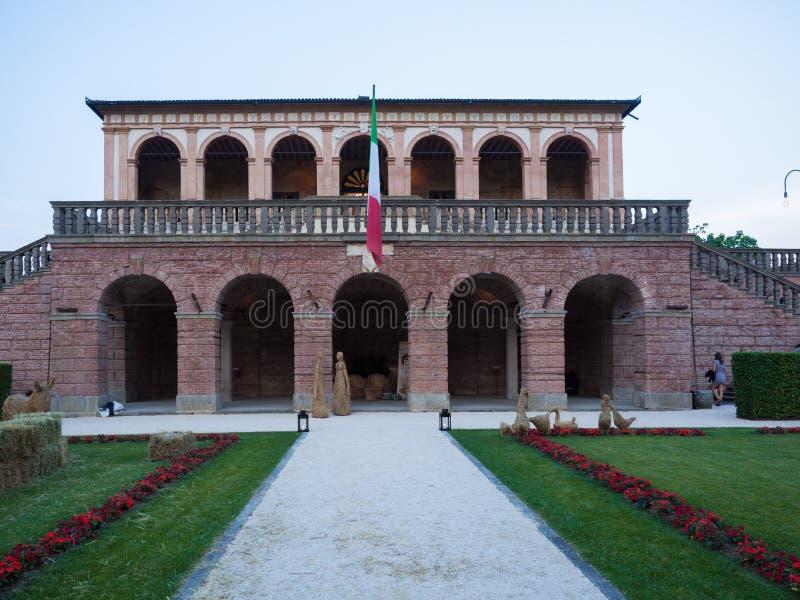 Villadeien Vescovi är en Venetian Renässans-stil villa aktuellt royaltyfri bild