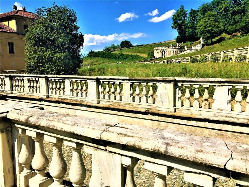 Villadella Regina in Turijn, Piemonte en weg royalty-vrije stock foto's