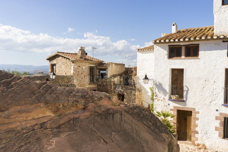 Villafamés lantlig villa i Castellon, Valencia region i Spanien royaltyfri bild