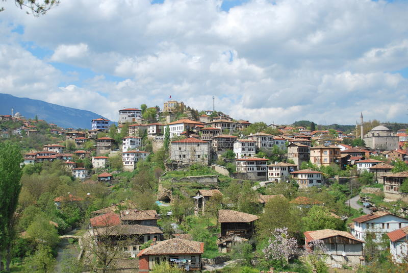 Download Village stock photo. Image of horizontal, clouds, town - 26434730