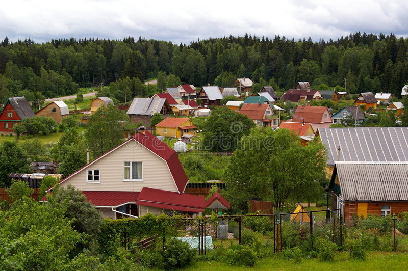 Download Village stock photo. Image of roof, forest, countryhouse - 5574206