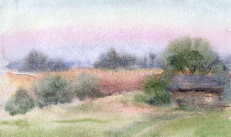 Village illustration de vecteur