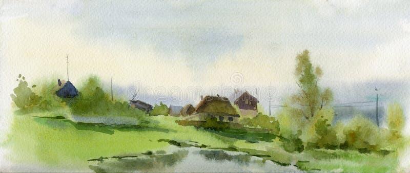Village illustration stock